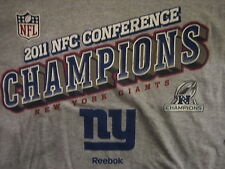 New York Giants REEBOK 2011 NFC Champions T-Shirt Adult XL