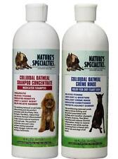 Nature's Specialties Colloidal Oatmeal Pet Shampoo & Creme Rinse, 16 Oz BUNDLE