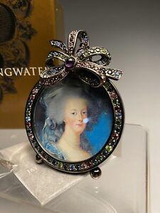 New Unused Jay Strongwater Swarovski Miniature Picture Portrait Frame W/Box (2)