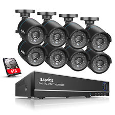 SANNCE 4TB TVI Video System 8CH 1080N DVR 1MP 1500TVL Security Camera Kit h.264+