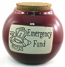 "Accident 911 Prepper Rainy Day Safety First Money Bank Jar ""Emergency Fund"""