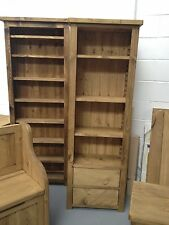 Rustic Pine Tall Bookcase with drawers (MADE TO ANY SIZE)