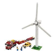 RARE: LEGO CITY 7747-éoliennes-Téléporteur-assemblés, NEUFS