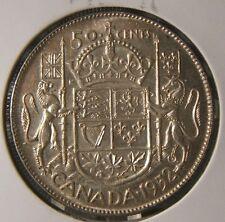 1952~~CANADIAN 50 CENTS~~SILVER~~SCARCE~~CANADA~~AU-BU BEAUTY