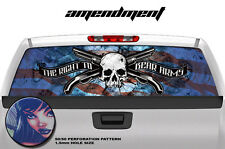 """2nd Amendment RIGHT TO BEAR ARMS Window decal NRA Truck SUV Flag Skull 65""""x22"""""""
