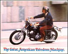 1973 Harley-Davidson ORIGINAL SS-350 Brochure NOS AMF