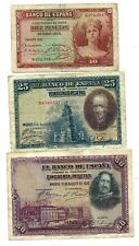 Spain 3 Banknotes