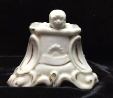 18th C ? Porcelain Baroque Skull Crossbone Stand Grotesque Catacomb Apothecary