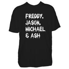 Mens Halloween Legends Tshirt - New Freddy Jason Trick Or Treat Costume T Shirt