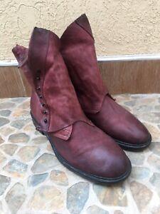 A.S.98 Italian Leather Boho Biker Boots Sz EUR 40 | US 9-9.5 | UK 7