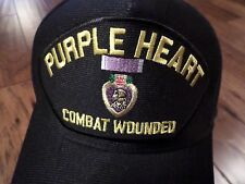 U.S MILITARY PURPLE HEART HAT U.S MILITARY OFFICIAL BALL CAP U.S.A MADE