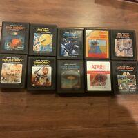 VTG Atari 2600 Game Cartridge Lot 10 PacMan Cookie Monster Munch Asteroids