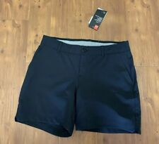 Under Armour Womens Black Golf Shorts Size 6 NWT