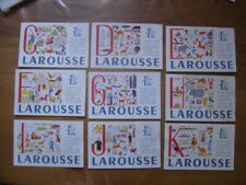 lot de 9 Buvards Blotting paper LAROUSSE lettre C,D,E,F,G,H,I,J,K bis
