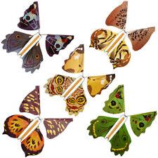 1X Magic Flying Butterfly Metal Bracket Butterfly Prank Card Joke Trick Prop Toy