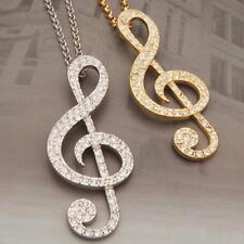 Anhänger Notenschlüssel in Modeschmuck Halsketten