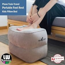 Plane Train Travel Inflatable Foot Rest Portable Pad Footrest Pillow Kids Bed
