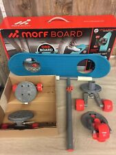 New Open Box MorfBoard Scooter & Skateboard Combo Set Blue/Red Sunset