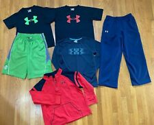Under Armour Shirts Shorts Sweatpants Pants Lot black green red Boys XLARGE YXL