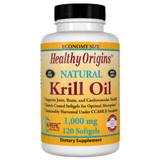Krill Oil, Natural Vanilla Flavour, 1000mg x 120SGels, Heathy Origins, Non GMO