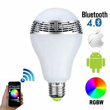 6W E27 APP Control Smart RGB LED Light Bulb Bluetooth Audio Speaker IOS Android