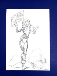 DARRYL BANKS Original SATURN GIRL Sketch Art Page Legionnaires GREEN LANTERN