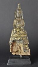 Antique Lacquered Wood 19th Century Burmese Shan Buddha.