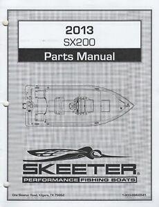 2013 SKEETER PERFORMANCE FISHING BOATS SX200 PARTS MANUAL  (781)