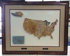 2011 Topps Allen & Ginter Complete State Relic Set /50 - Framed w/ Museum Glass