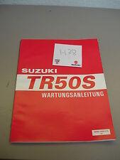 Original Suzuki TR 50 S  Werkstatthandbuch Wartung Wartungsanleitung Manual