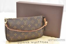 Authentic Louis Vuitton Monogram Pochette Accessoires Pouch M51980 LV Box 39164