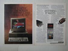 9/1989 PUB COMPAQ COMPUTER PC ORDINATEUR DESKPRO 386/33 ORIGINAL AD