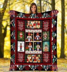 Merry Christmas, The Nutcracker - Gift for Family Fleece, Quilt blanket in USA