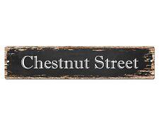 SP0505 CHESTNUT STREET Street Sign Home Room Cafe Store Shop Bar Chic Decor Gift