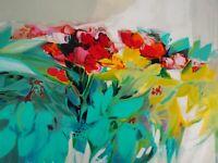 Claude HEMERET : Les fleurs abstraites - Lithographie Originale Signée