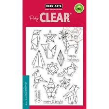 Hero Arts Clear Stamps Origami Happy Holidays Christmas