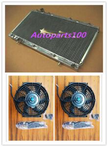 Aluminum Radiator + Fans FOR Mitsubishi FTO 1994-2000 1995 1996 1997 1998 1999