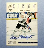 2012-13 Classics Signatures, Dave Taylor, Los Angeles Kings, Auto Autograph
