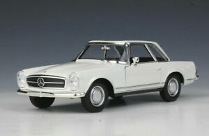 Welly 1:24 Mercedes 1963 Benz 230SL White Diecast Model Car New in Box