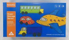 BeebeeRun Kinder Spielzeug Auto Spielzeugset Flugzeug 9 verschiedene Fahrzeuge