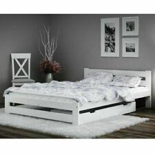Weiß Holzbett Bett Doppel 140x200 160x200cm Lattenrost Matratze Bettgestell