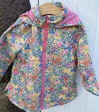 Girls Next Little Flower Spring Rain Coat Age 2/3 Years VGC