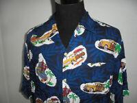vintage Hawaii Hemd hawaiihemd Viskose Woody Oldtimer shirt surf Gr. L