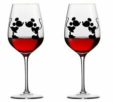 9 x Mickey and Minnie Vinyl Decal Wine Glass stickers