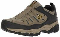Skechers Mens After Burn Low Top Bungee Walking Shoes, Pebble, Size 11.5 PDRT