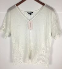 Banana Republic White Embroidered Shirt Size  Small Petite NWT