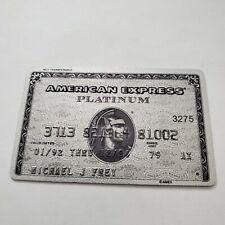 vintage American Express AMEX Platinum credit card member since 1979
