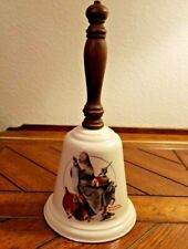 "Christmas! Gorham Fine China Norman Rockwell 1975 ""Santa'S Helpers"" Bell!"