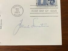 Frank Sinatra Signed Autographed JFK First Day Cover w/ Photograph