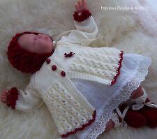 Baby Knitting Pattern 34 TO KNIT Girls Reborn Dolls Matinee Coat Bonnet Booties